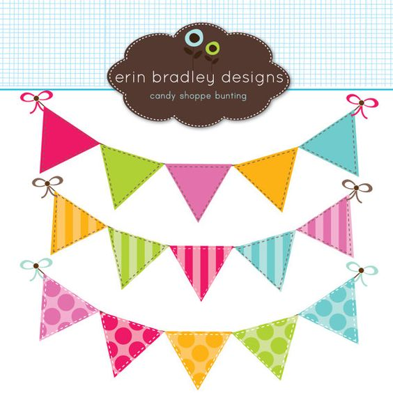 Colorful Bunting Clipart Clip Art Banner Flags for Personal.