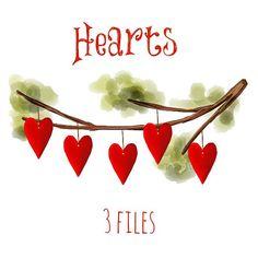 valentine hearts clip art.