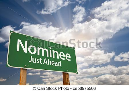 Nominee Green Road Sign and.
