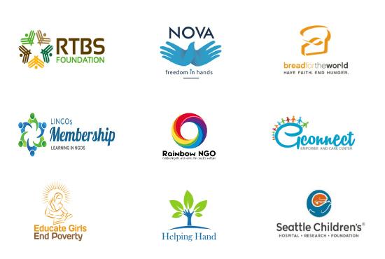 design modern ngo charity non profit logo.