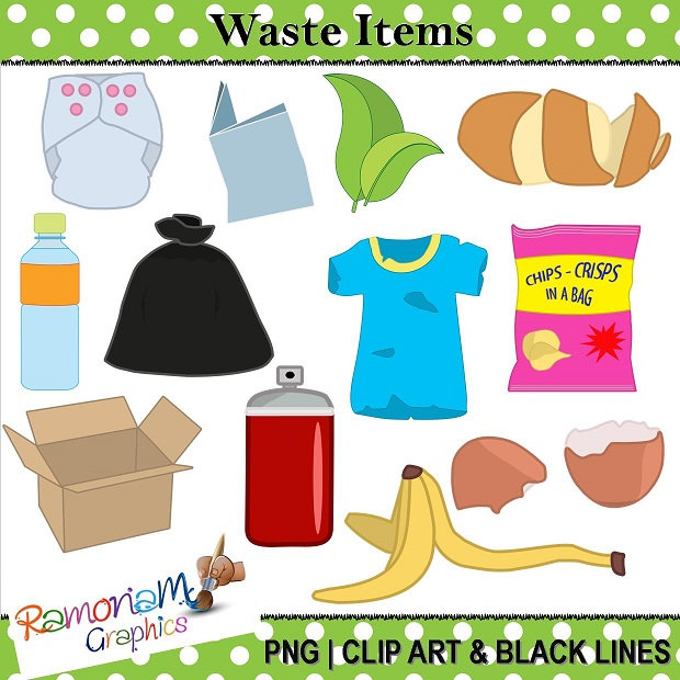 Non recyclable waste clipart #4