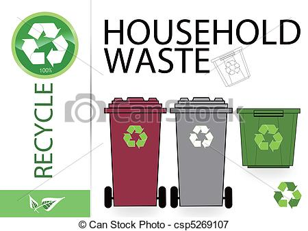 Vectors Illustration of Please recycle household waste.
