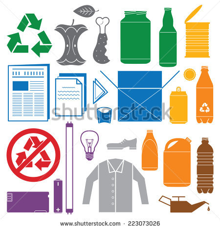Non recyclable waste clipart #11