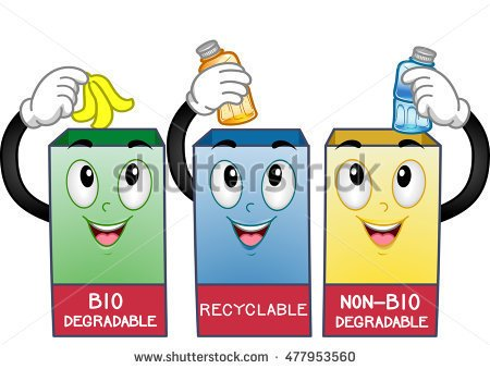 Non Biodegradable Waste Examples Clipart.
