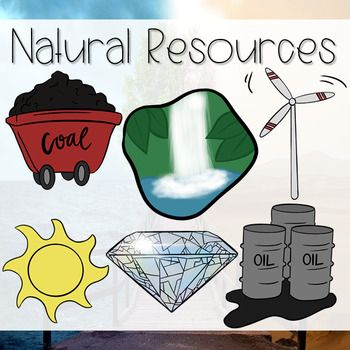 Natural resources clip art ~ renewable and nonrenewable.