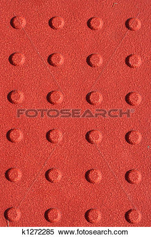 Stock Image of Red sidewalk non slip pad background k1272285.