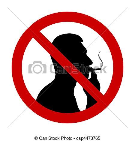 "Clipart Vector of \""No smoking\"" sign."