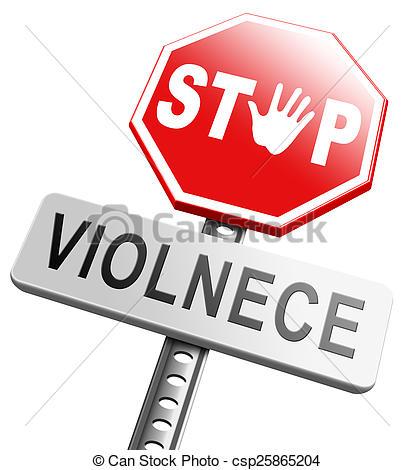 Stock Illustration of no violence or aggression stop violent or.