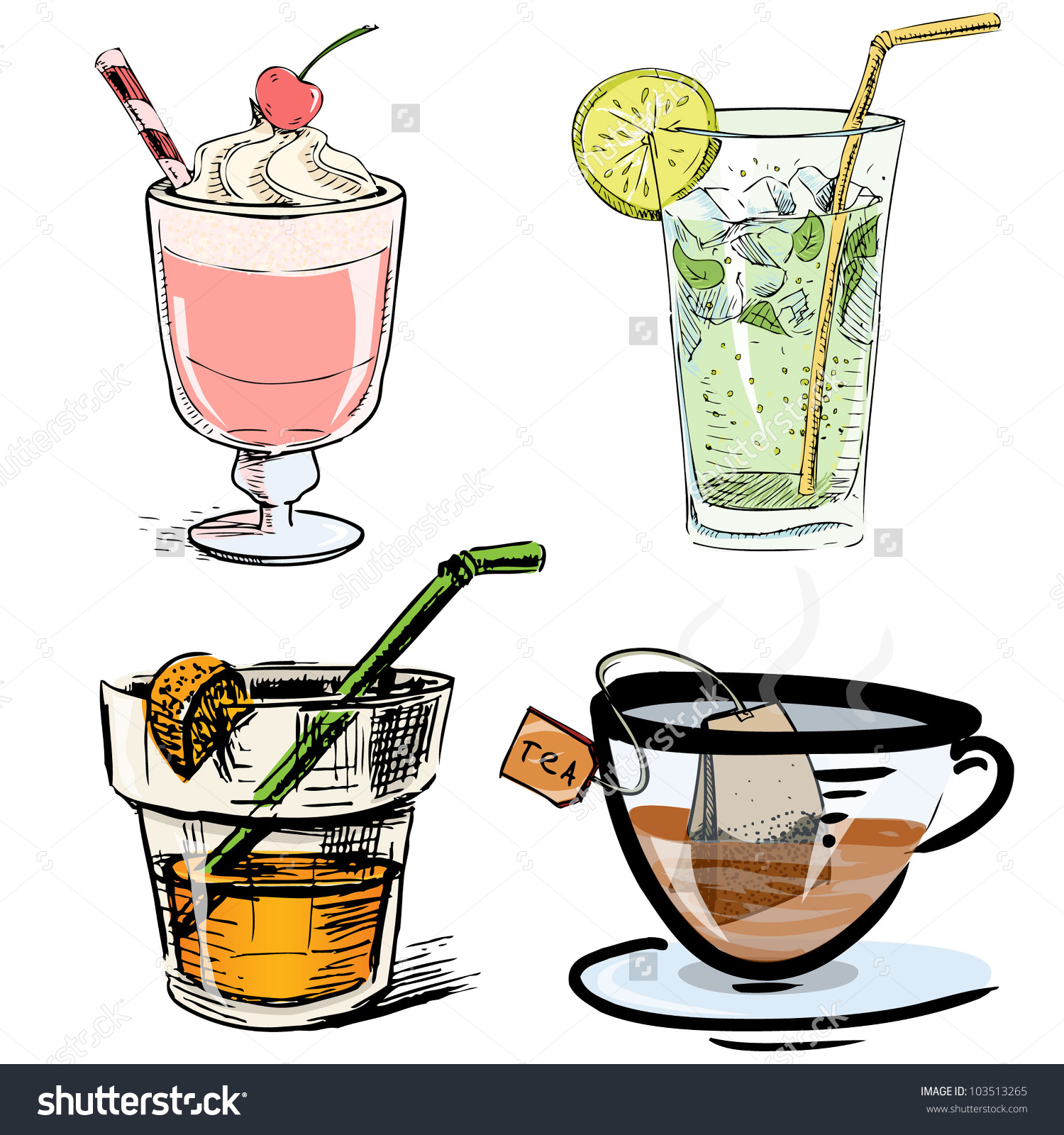 Non-alcoholic drink clipart - Clipground