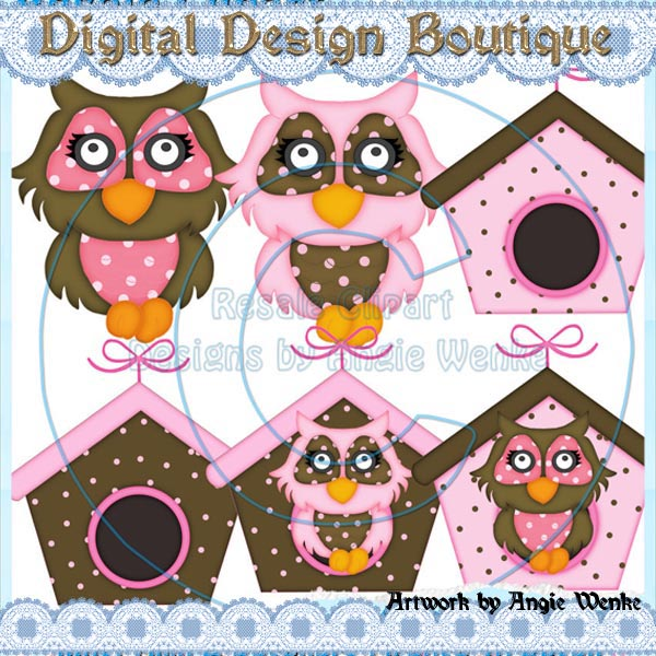 Birdhouse Digital Clipart.