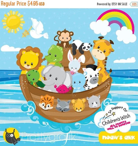 80% OFF SALE Noah's ark clipart commercial use, non.