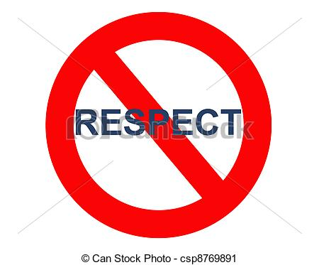 Clipart of no respect sign csp8769891.