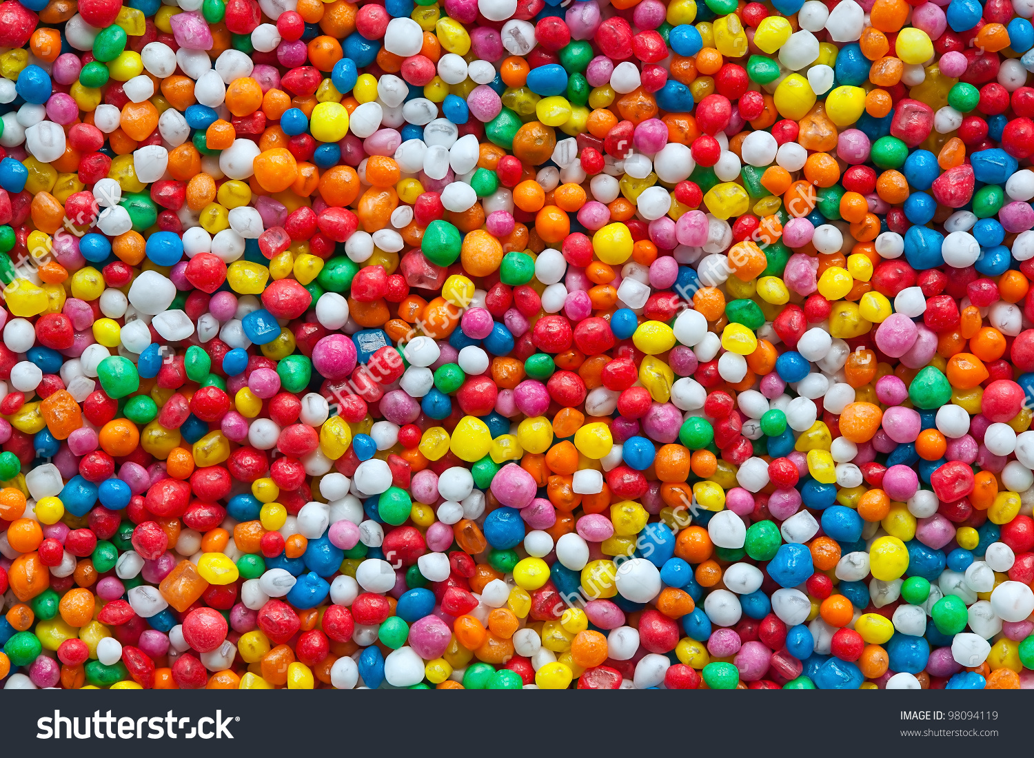 Candy Sprinkles Fullframe Background Colorful Hundreds Stock Photo.