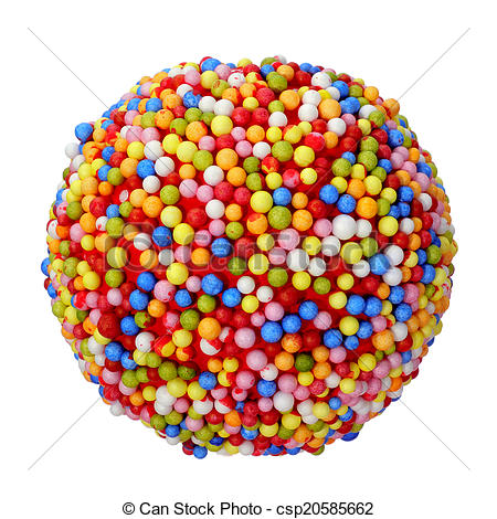 Stock Image of candy ball.