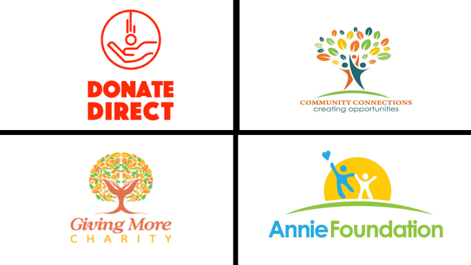 design unique charity logo for ngo and nonprofit organization.