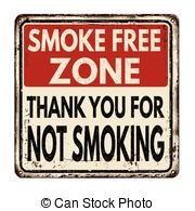 Clipart Vector of Signs for smoking and smoke free area.