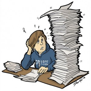 Stress Student Clipart.
