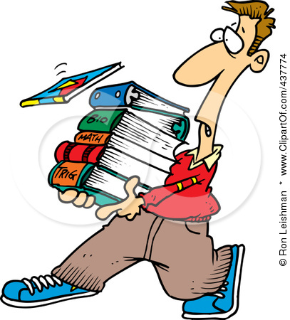 Male College Student Clipart.