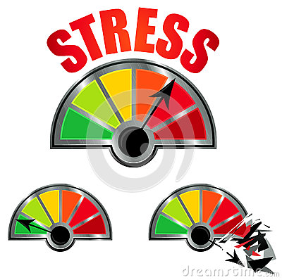 Nontraditional College Student Stress Clipart.
