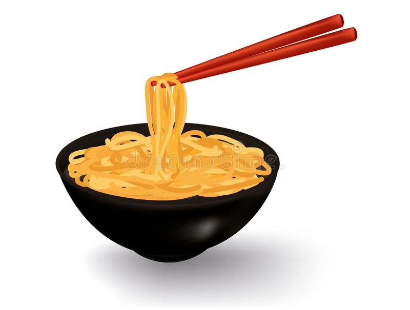Bowl Noodles Stock Illustrations.