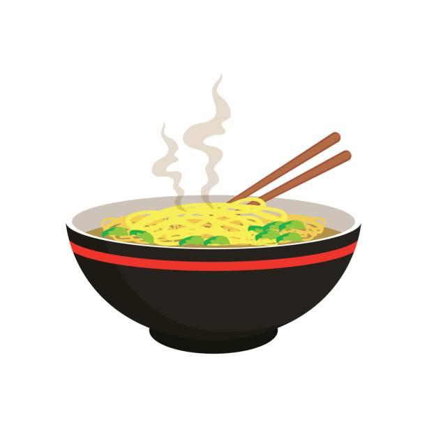 Best Noodle Soup Illustrations, Royalty.