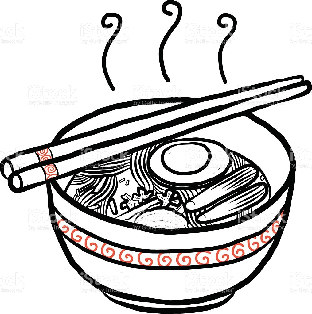 Noodle clipart black and white 10 » Clipart Station.