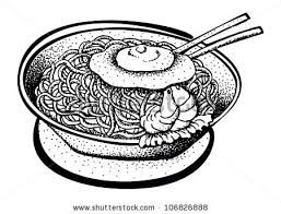 Image result for noodle clipart black and white.