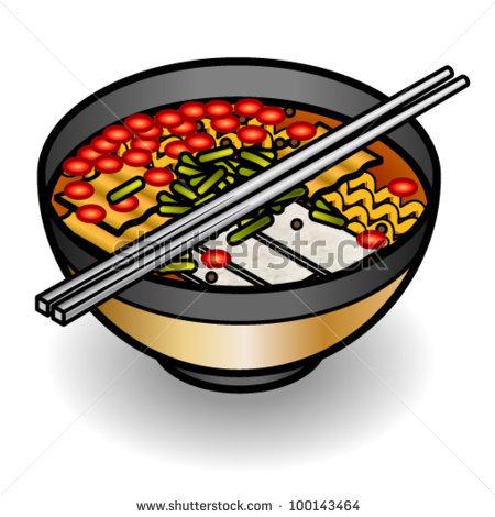 Clip Art Bowl Of Noodles Clipart.