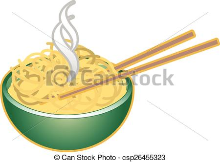 Vector Illustration of bowl of noodles.