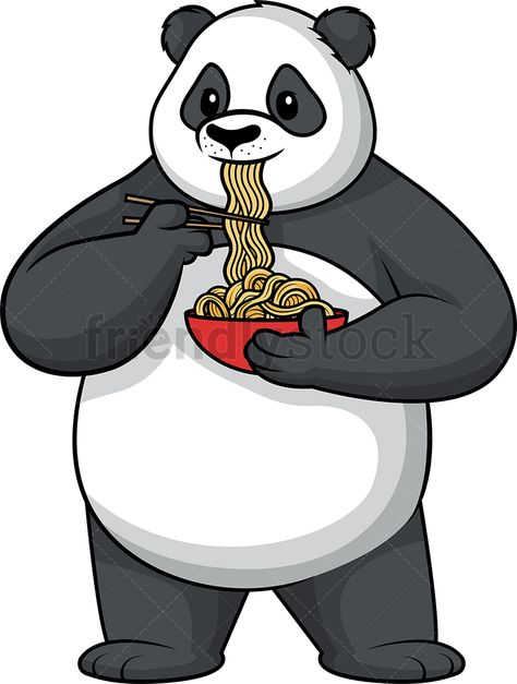 Panda Eating Noodles in 2019.