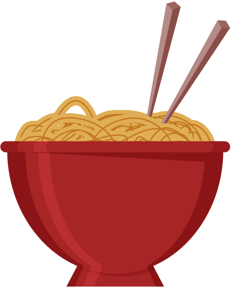 Free Bowl of Noodles Clip Art.