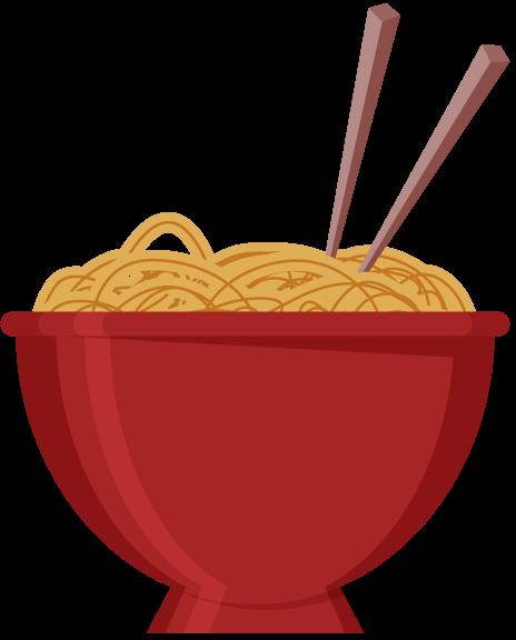 Free Bowl of Noodles Clip Art.