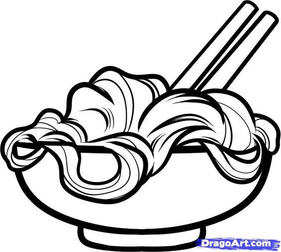 Noodles Clip Art.