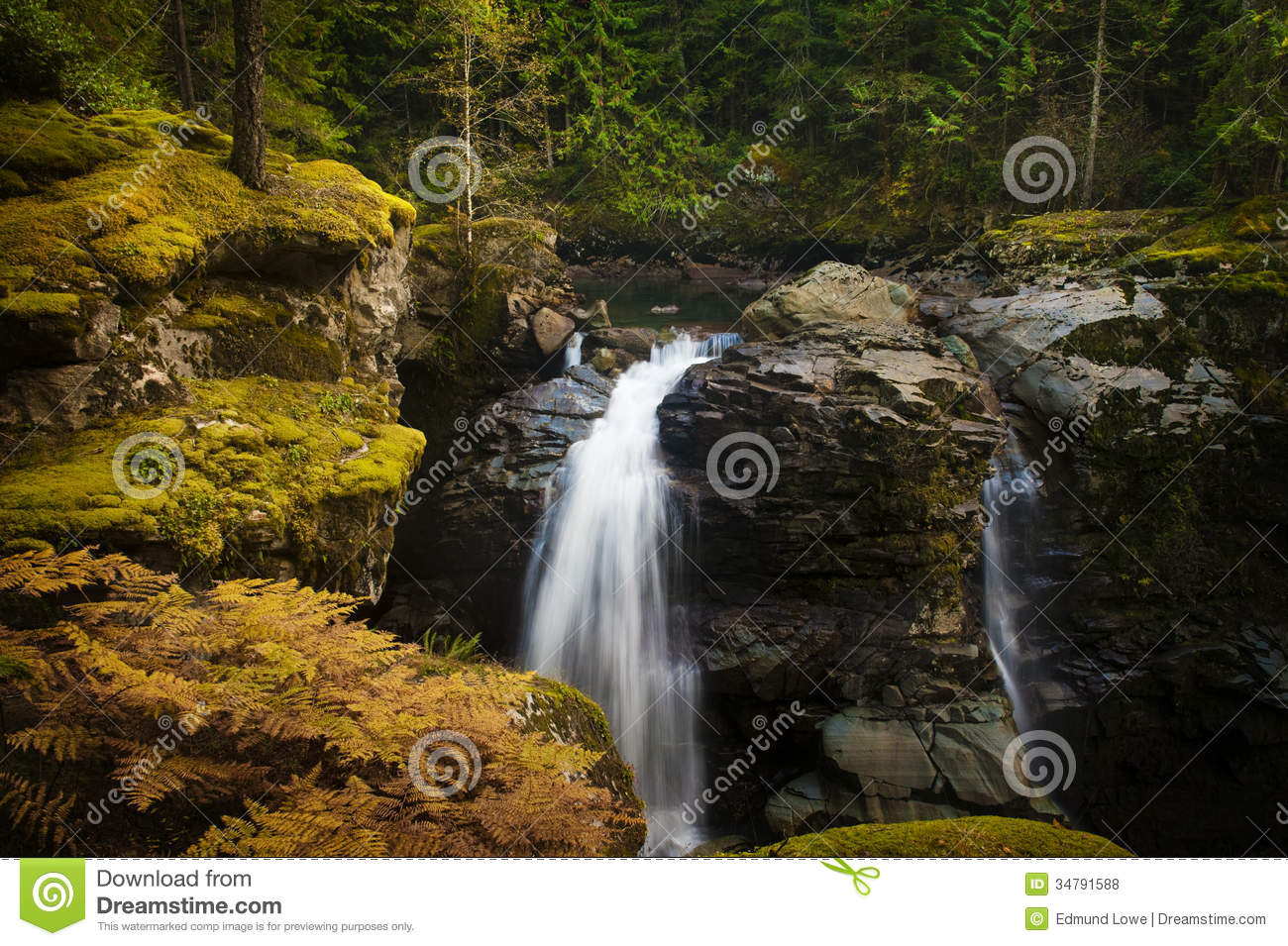 Nooksack Falls. Royalty Free Stock Photos.