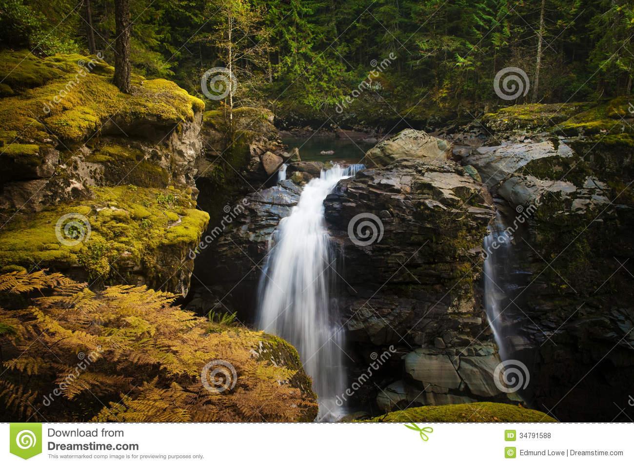Nooksack Falls. Royalty Free Stock Photos.