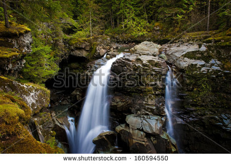 Nooksack Falls. Located In The Mt. Baker National Forest.