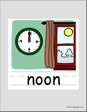 Noon Time Clipart.