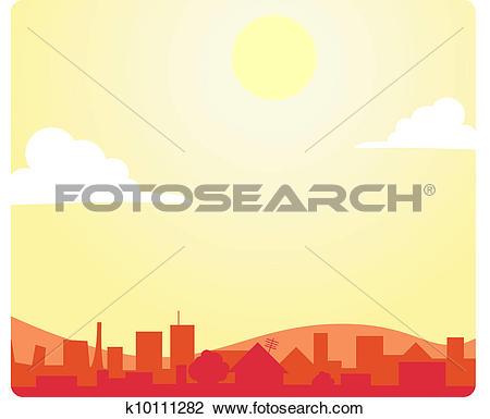 Clipart of Noon Sky_stock k10111282.