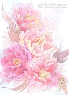Cherry Blossom Illustration Pink Flowers Clipart.