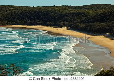 Stock Photography of Beach at Alexandria Bay, Noosa Heads.