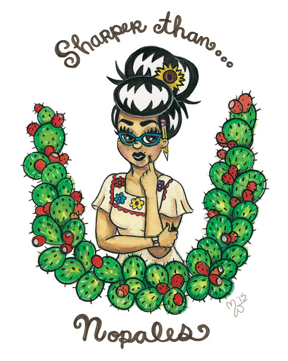 I Am Mujer Nopales 8 x 10 by munecamiamundo on Etsy.