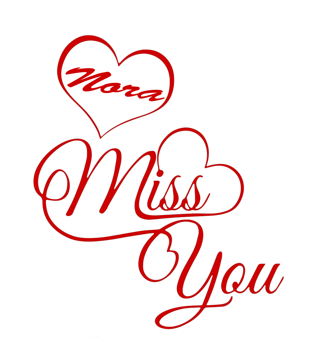 Nora Missing You Name PNG.