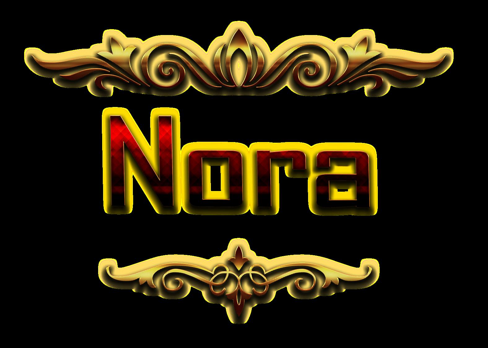 Nora Decorative Name PNG.