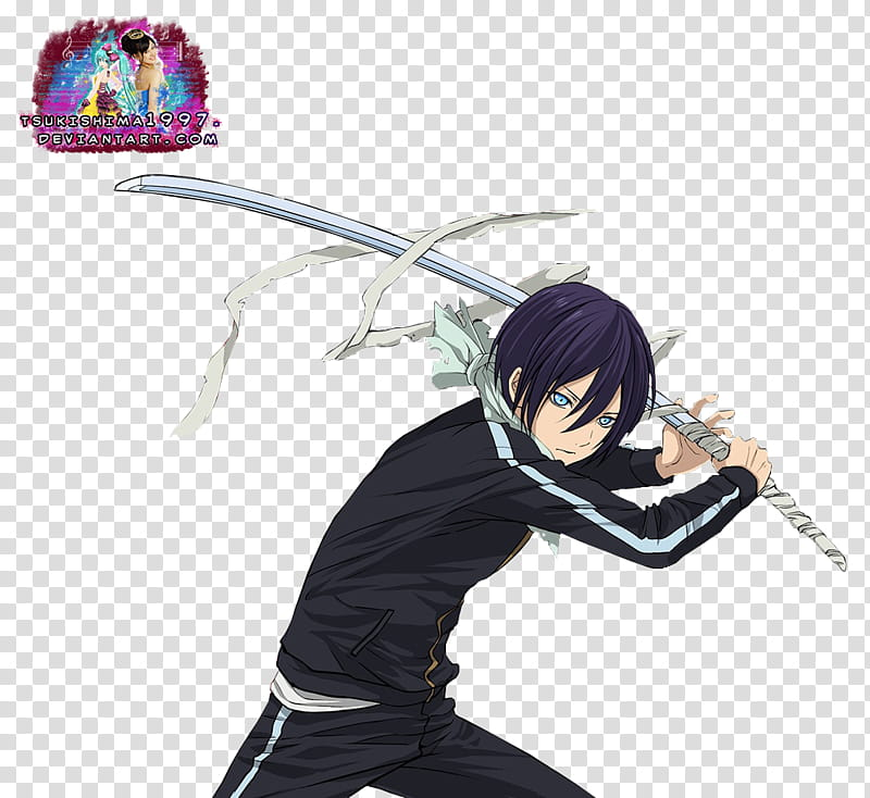 Noragami Yato and Sekki Render, male character transparent.