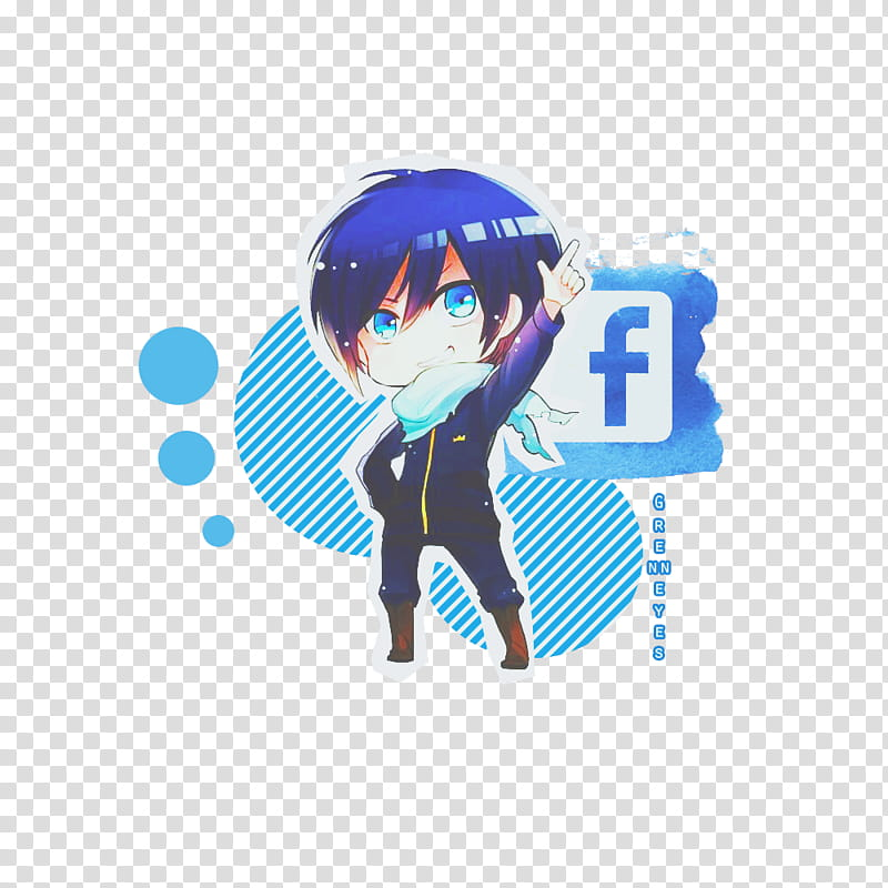 Logo Facebook Yato Noragami transparent background PNG.