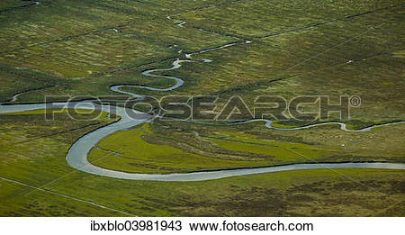 "Stock Photo of ""Aerial view, Ostheller outland, salt marshes with."