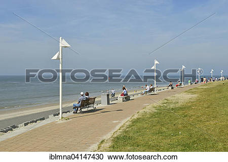 Stock Photography of Beach promenade, Norderney, East Frisia.