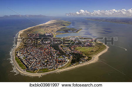 "Picture of ""Aerial view, town of Norderney, western part of the."