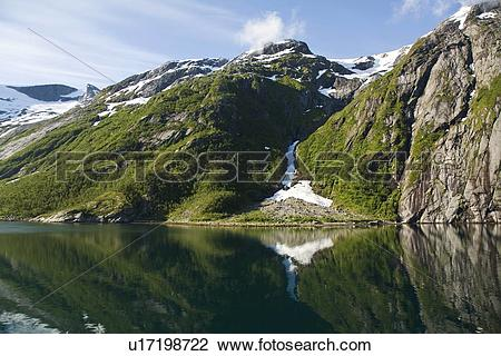 Stock Photo of A view of Nordfjord, an arm of the larger Melfjord.