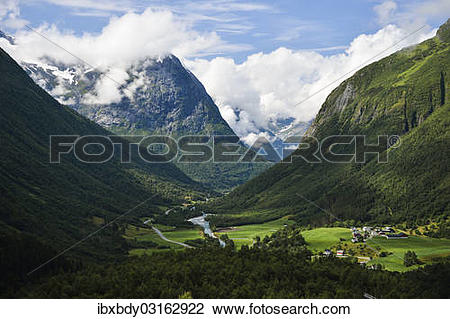 "Stock Photo of ""Valley in the mountains of Strynefjellet."